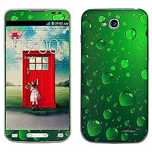 Skin Decal for LG Optimus L90 - Green Water Drops