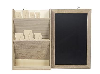 Cucine In Legno Naturale : Fair lavagna da parete con portalettere in legno naturale 39 x 30 x