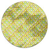 Abstract Scales Round Tablecloth: Small Dining Room Kitchen Woven Polyester Custom Print