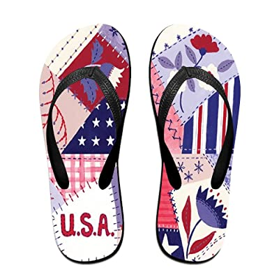 Creative Welcome Flag Funny Pattern Unisex Fashion Beach Flip Flops Sandals Slippers Sandal For Home & Beach