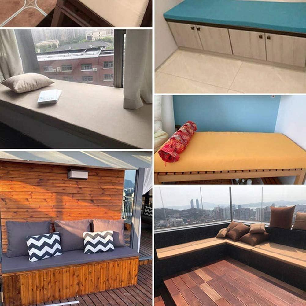 80 x 30 x 3 cm, beige 2 o 3 posti Cuscino per panca con cravatta cucina patio per sedie a sdraio giardino antiscivolo sala da pranzo in spugna