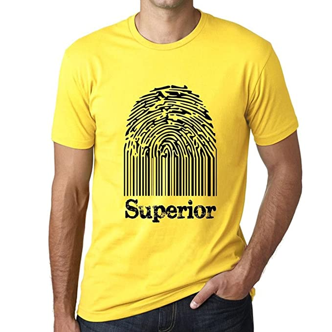 Ropa Camiseta es Superior Hombre Accesorios Regalo Camisetas Fingerprint Amazon Amarilla Y pwq8xfU