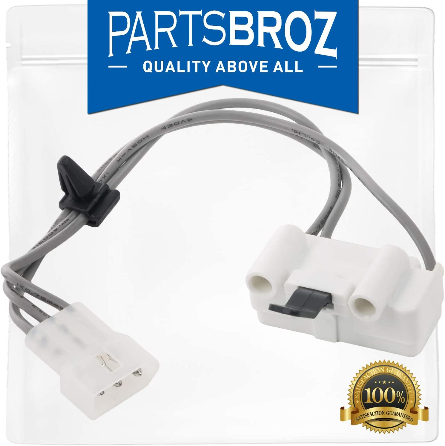 3406105 Door Switch Assembly by PartsBroz - Compatible with Whirlpool Dryers - Replaces WP3406105, AP6008560, 3405104, 3405105, 3406104, PS11741700, WP3406105VP