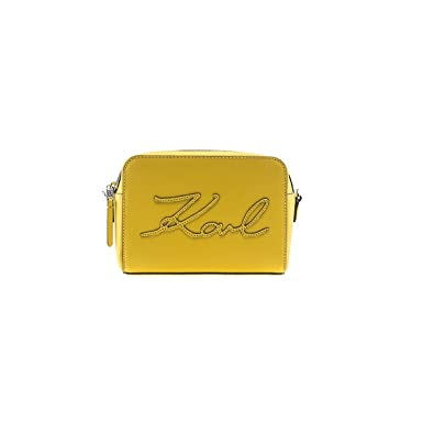 8cde2127ac24 Image Unavailable. Image not available for. Colour  Women s Accessories  Karl Lagerfeld K Signature Yellow Camera Bag ...