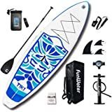 "FunWater Inflatable 10'6×33""×6"" Ultra-Light (17.6lbs) SUP for All Skill Levels Everything Included with Stand Up Paddle…"