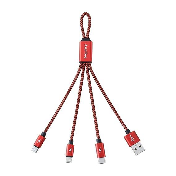 Amazon.com: Multi Cargador USB anntoo Multi Cable USB 0.6 ft ...