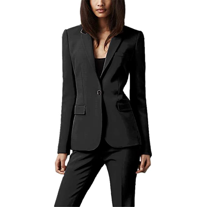 Amazon.com: Setwell Women Pant Suits Formal Office Ladies ...