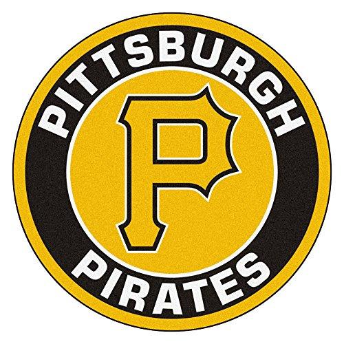 Fanmats 18147 MLB Pittsburgh Pirates Roundel Mat (Pirates Pittsburgh Carpet)