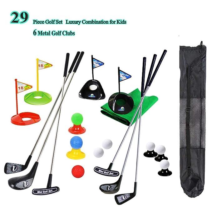 SOWOFA Juego de Club de Golf para niños portátil Juguete ...