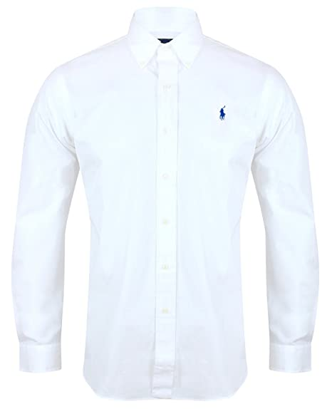5fd59a74 Ralph Lauren Polo Men's Custom Fit Poplin Shirt White Navy Black S - XXL  (Small