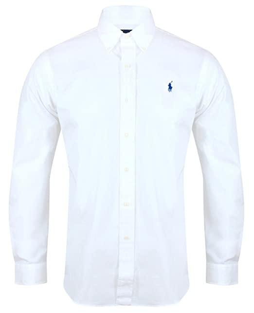 92c9f4169c86 Ralph Lauren Polo Men s Custom Fit Poplin Shirt White Navy Black S - XXL  (Small