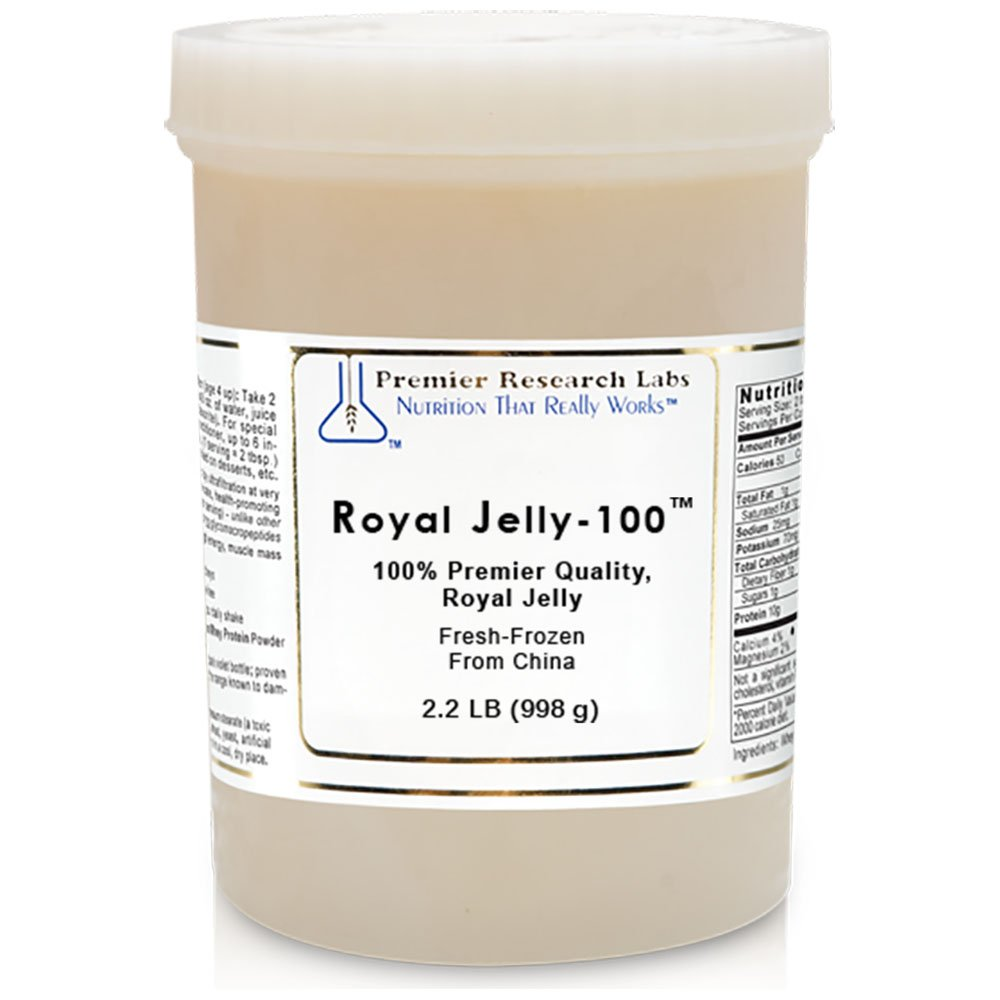 Royal Jelly-100 TM, 2.2 lbs, Premier Quality Pure Royal Jelly Fresh-Frozen from China - Centuries-Old Super Food