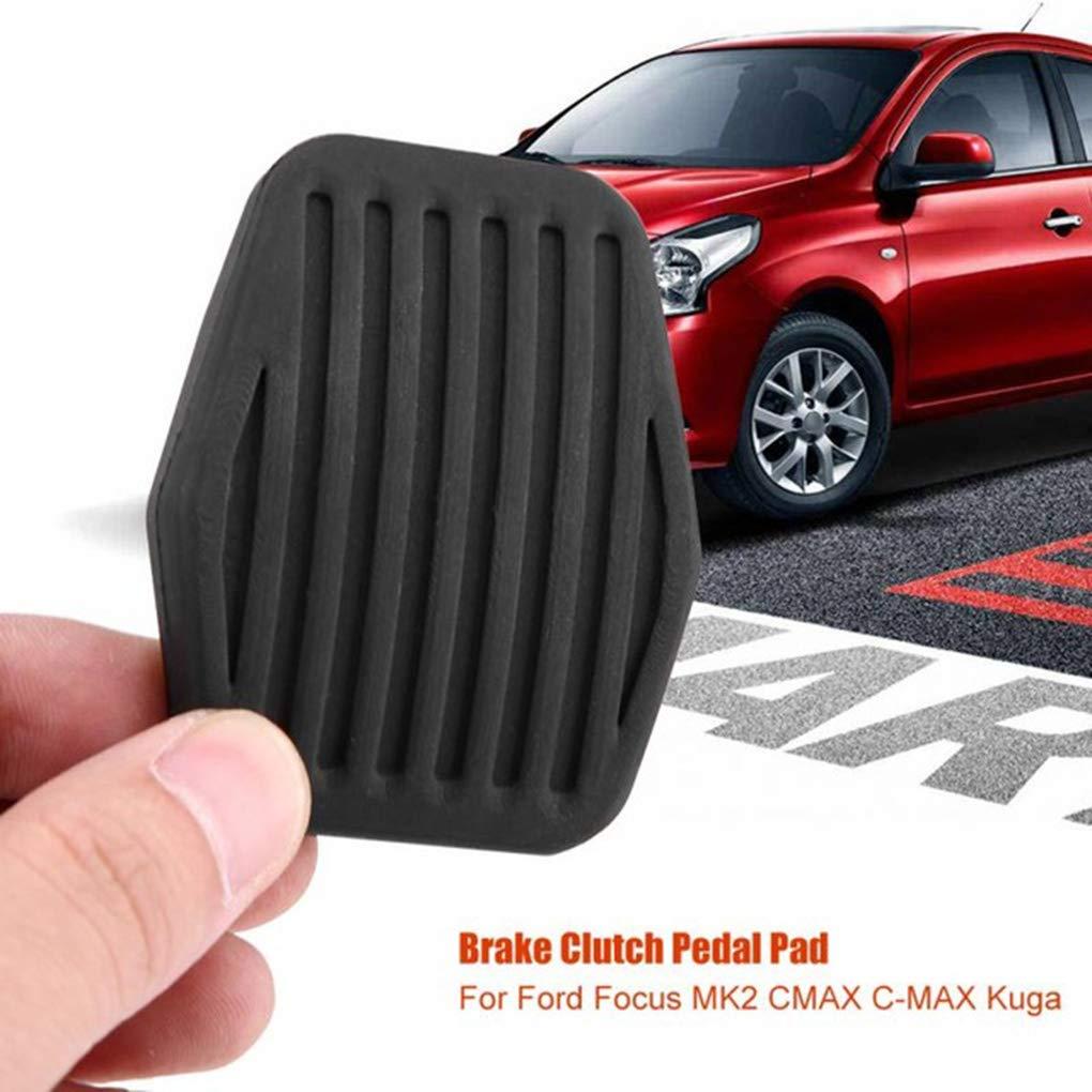 Censhaorme Pedal de Freno de Embrague de la Cubierta del Caucho Negro Antideslizante Almohadilla de Repuesto para Ford Focus MK2 1234292