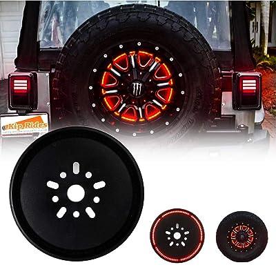 Spare Tire Brake Light Third Brake Light Wheel Light LED Ring for Jeep Wrangler JK JKU 2007-2020: Automotive