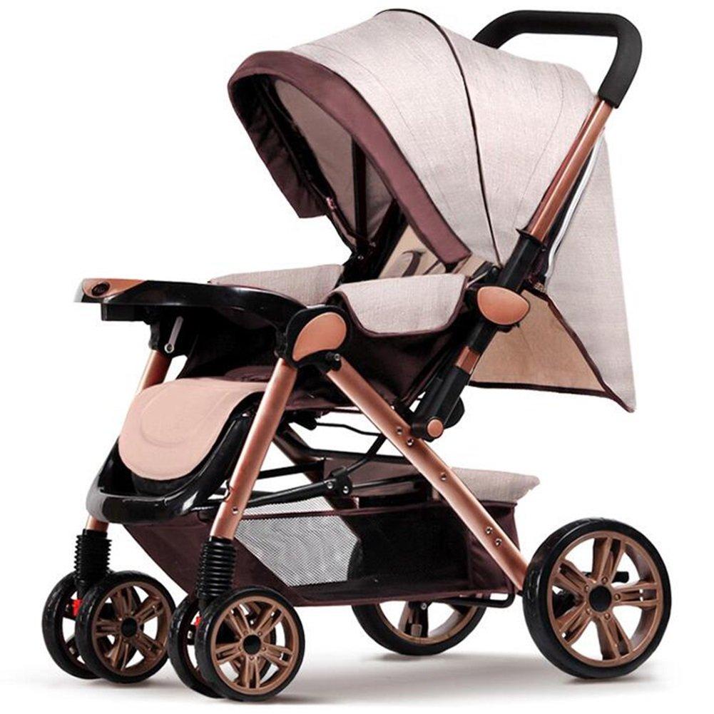 高級多目的リクライニングベビーカーフォールディングポータブルライトベビーカー簡単折り畳み式赤ちゃん新生児1-3歳   B07J3DVY4H