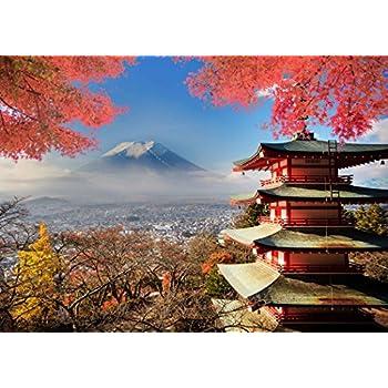 MME 7x5Ft Japan Views Backdrop Fujiyama Kiyomizu Temple Background Fall Maple Leaf Video Props Photo GEME031