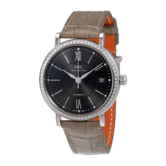 IWC Portofino Antracita Dial diamante automático unisex reloj 4581 - 04: Amazon.es: Relojes