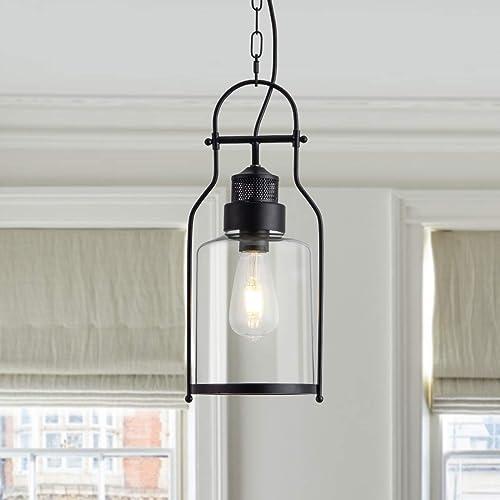 Industrial Pendant Light Glass Shape Hanging Kitchen Island Light