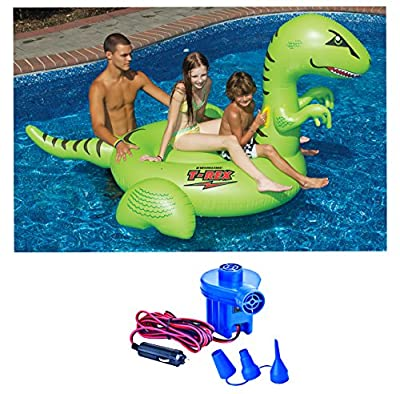 Swimline 90624 Giant Inflatable Dinosaur with 12 Volt Air Pump