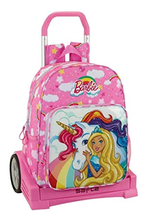 Safta Mochila Espalda Ergonómica Barbie Dreamtopia Con Carro Safta Evolution: Amazon.es: Equipaje