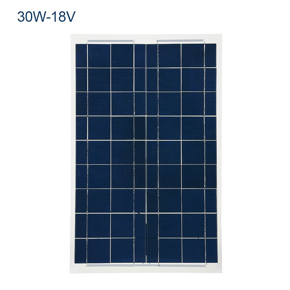 18V 30W Solar Panel,Monocrystal Silicon Solar Charger Waterproof Foldable for Smartphones Tablets and Camping Travel Greencolorful