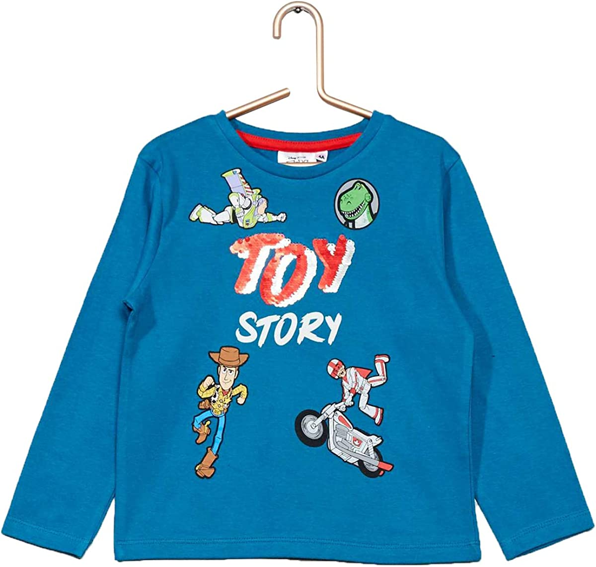 Disney T-Shirt Sequins r/éversibles Toy Story 3//4//6//8 Ans