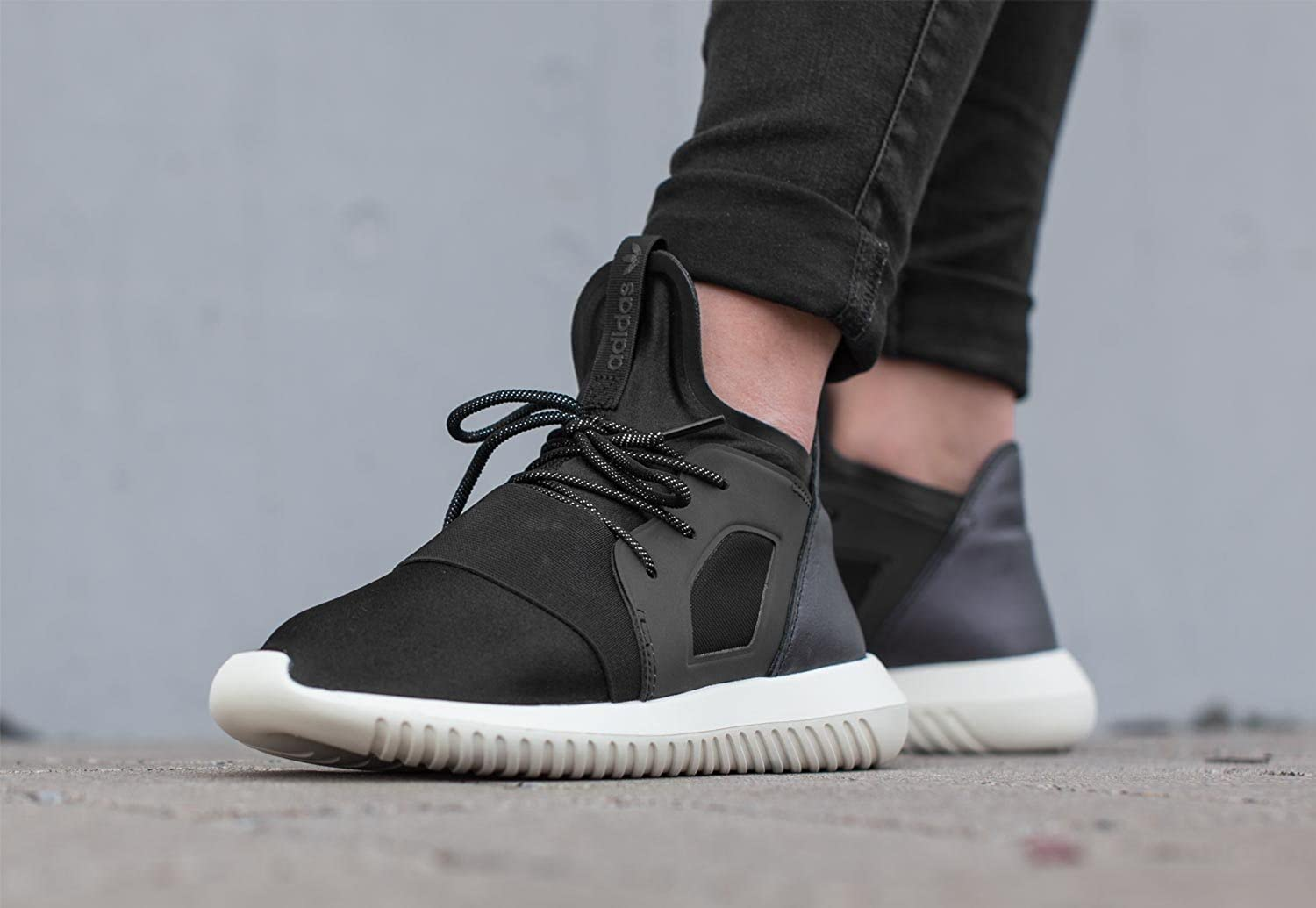 adidas Tubular Defiant Trainers Black: Amazon.