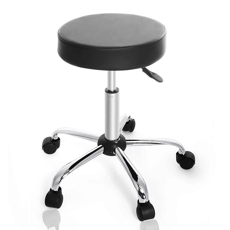 Kemanner 360-Degree Rolling Stool Adjustable Hydraulic Swivel Bar Stool with Wheels for Massage/Medical/Salon/Office/Tattoo