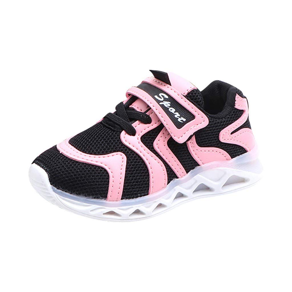 Toddler Boys Girls Led Lighting Letter Sneakers Casual Running Shoes Suma-ma Kids Babys Luminous Sports Shoes