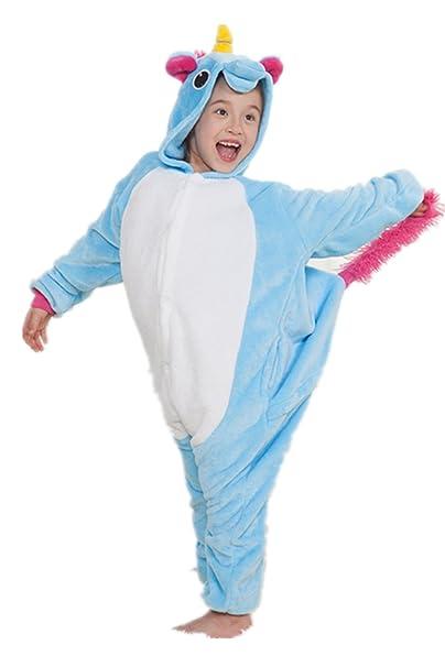 Kenmont Unicorn Pijamas Anime Cosplay Niño Traje Disfraz Niño Animal Pyjamas (Taille 85(Hauteur