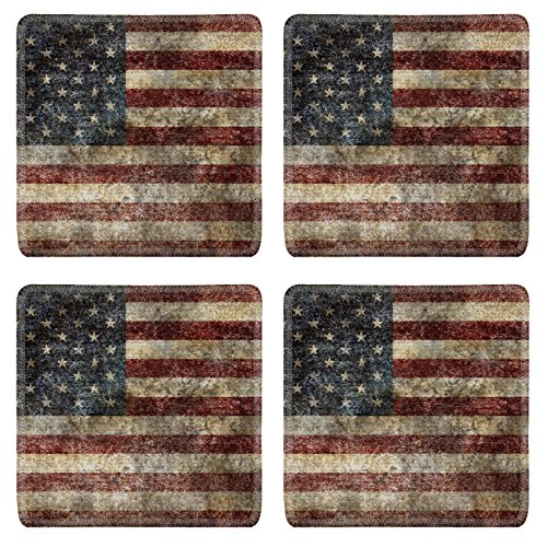 Price comparison product image Liili Natural Rubber Square Coasters Image ID 7153578 American flag background