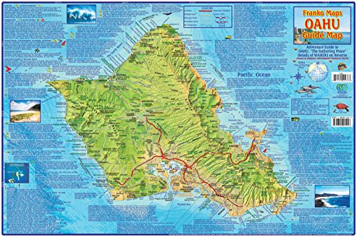 oahu-hawaii-guide-map-laminated-poster-by-franko-maps