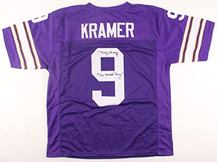 newest 050c0 b1a97 Tommy Kramer Autographed Signed Vikings Jersey Inscribed Two ...