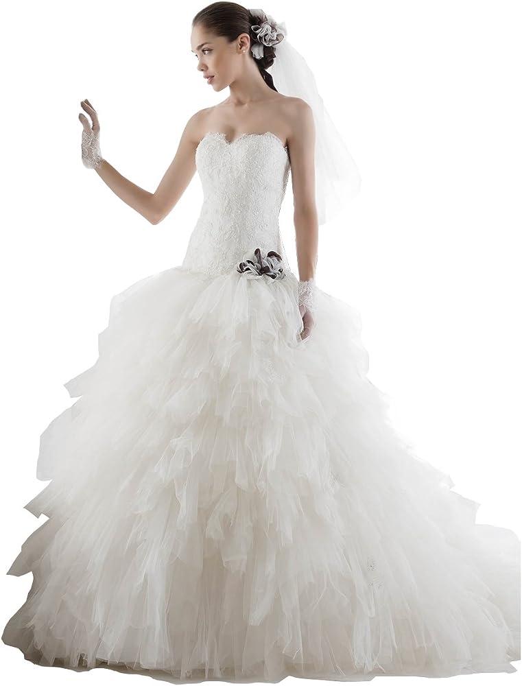 Abito Da Sposa 44.Jolies Abito Da Sposa Dallo Stile Principessa Joab 14034 Taglia