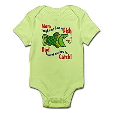 a7e9e5d1cf8 Amazon.com  CafePress-Dad Mom Fishing-Cute Infant Bodysuit Baby ...