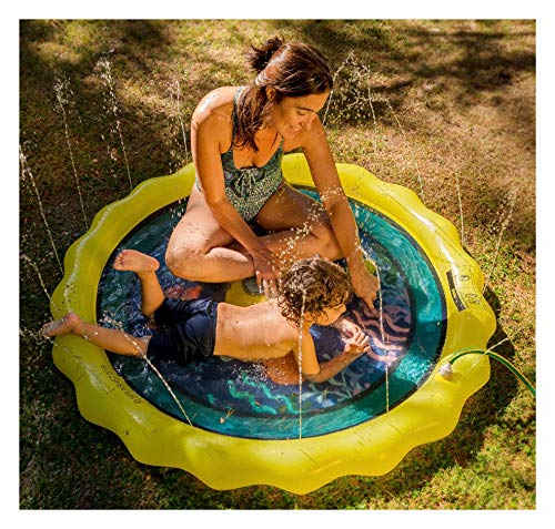 """SplashEZ 3-in-1 Baby Pool, Splash Pad, and Sprinkler for Kids – Children's Sprinkler Pool, 60'' Inflatable Water Toy – """"The Deep Blue"""" Outdoor Swimming Pool for Babies and Toddlers ()"""