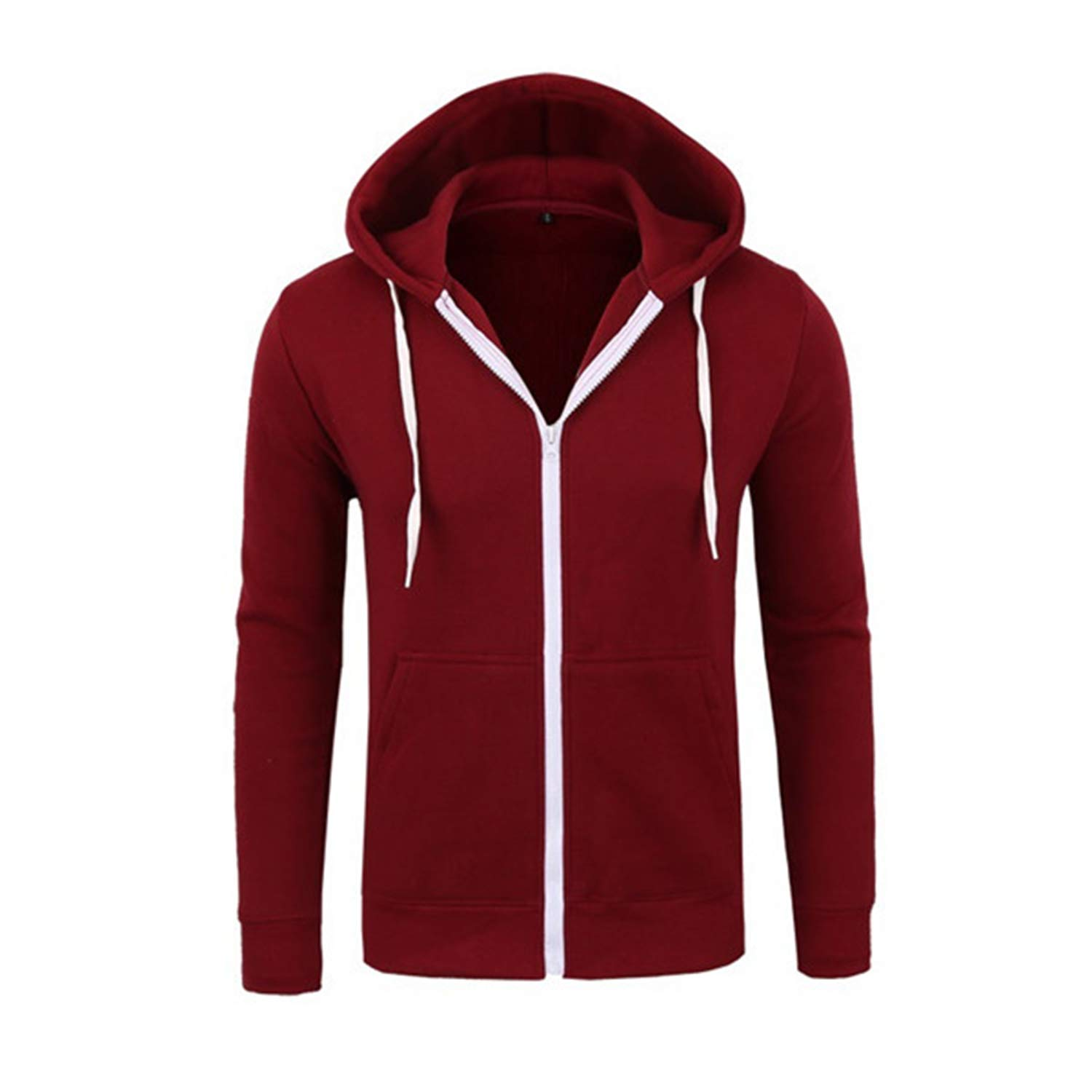 Spring Hoodies Men Solid Zipper Sweatshirts Slim Fit Sportswear Tracksuit