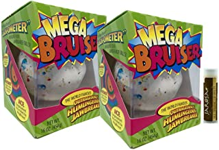 "product image for JUMBO JAWBREAKER 2 Pack (2 lb) Sconza 3 3/8"" The Mega Bruiser Individually Boxed with a Jarosa Chocolate Bliss Lip Balm"