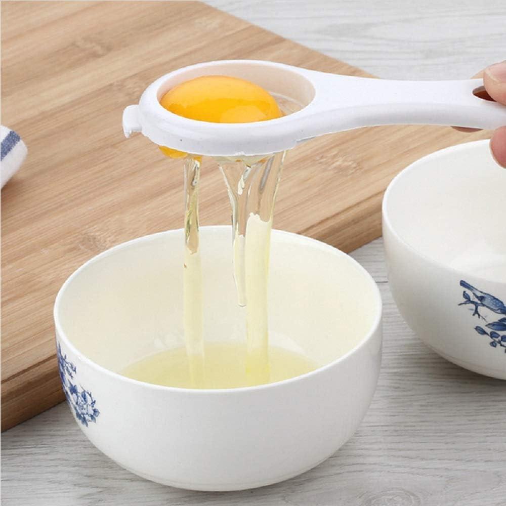 color blanco 1 unidad Huir Separador de huevo material de pl/ástico dispositivo avanzado filtro de yema de huevo de clara de huevo colador de huevo de cocina