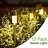 realifehome Solar Lights Outdoor, 12 Pack Outdoor Garden Lights, Solar Pathway Lights, Outdoor Landscape Lighting for Lawn/Patio/Yard/Walkway/Driveway ST-3493 (Warm White)