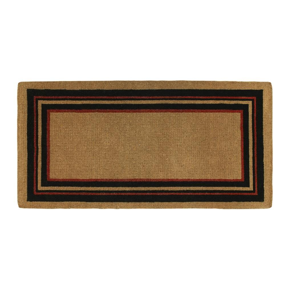 Home & More 18006PLAIN3672 Esquire Extra-thick Doormat, 3' x 6' , Natural/Black by Home & More