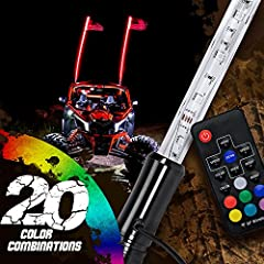 The OLS LED Whips are Multicolor LED car and safety whips which come in varying lengths of 3ft., 4ft.,5ft., and 6ft. These 12W RBG LED whips which make a creative and unique touch to your dune buggy, or ATV can produce up to 20 colors ...