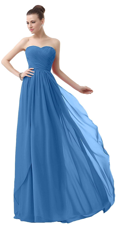 VaniaDress Sweetheart Chiffon Long Bridesmaid Dress Prom Gonws V003LF