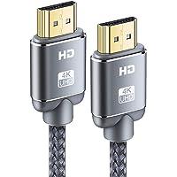 Cable HDMI 4K 2metros-Snowkids Cable HDMI 2.0 de Alta Velocidad Trenzado de Nailon 4K a 60Hz a 18Gbps Compatible con Fire TV, 3D, Función Ethernet, Video 4K UHD 2160p, HD 1080p - Gris