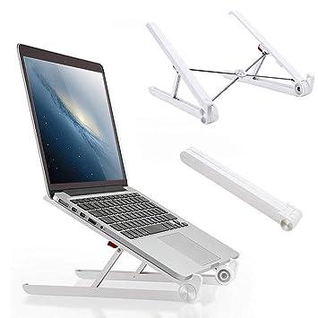 Soporte para ordenador portátil, plegable, ventilado, portátil, de escritorio, ajustable, ligero, Smart Fit Mount para MacBook Notebook Acer Ordenador: ...
