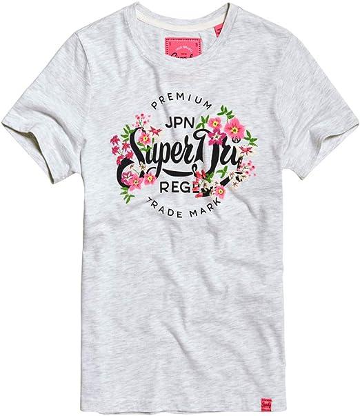 Superdry Premium Script Floral Damen T-Shirt