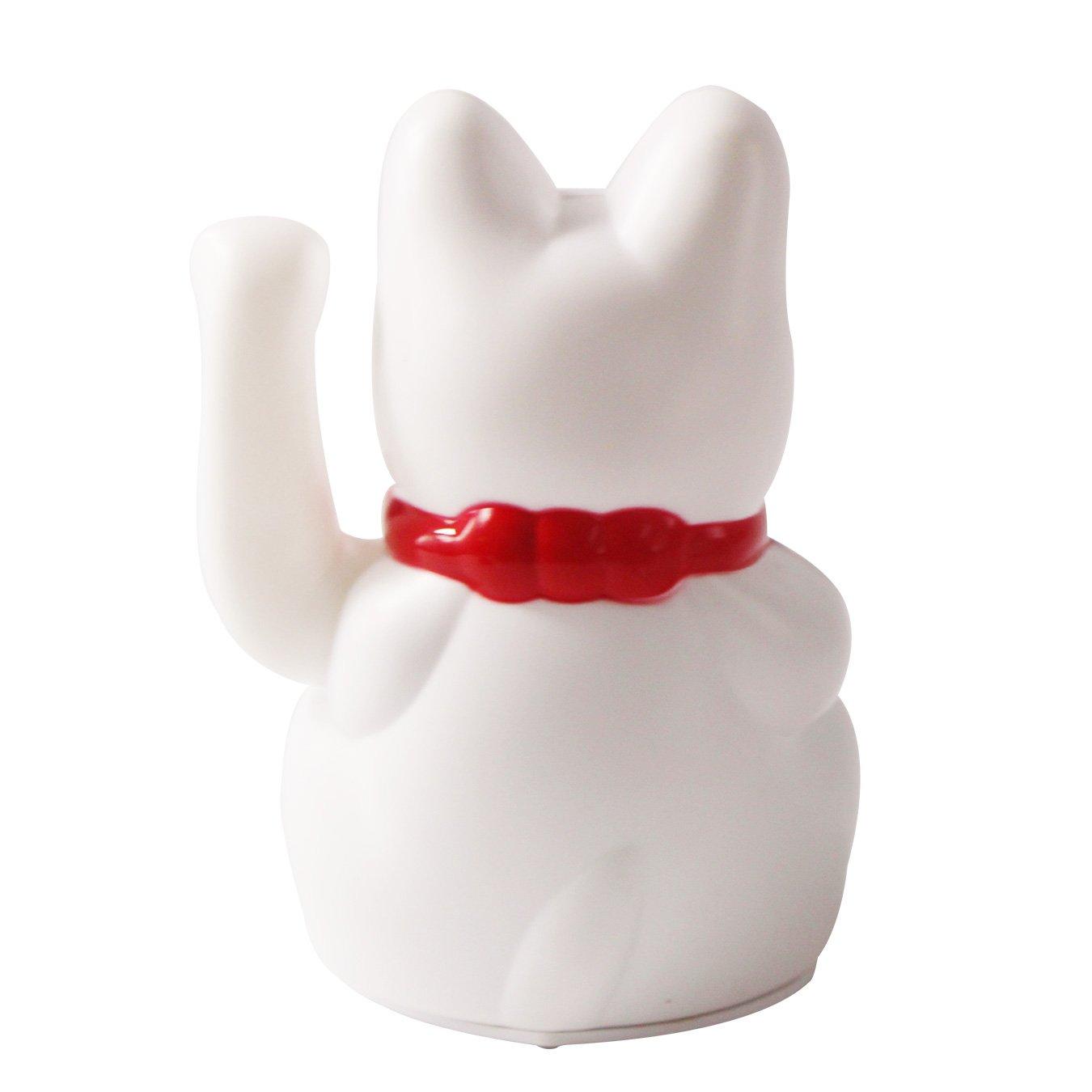 uooom 5/Maneki Neko Saludando gato Feng Shui fortuna Dinero gato para casa decoraci/ón del coche blanco