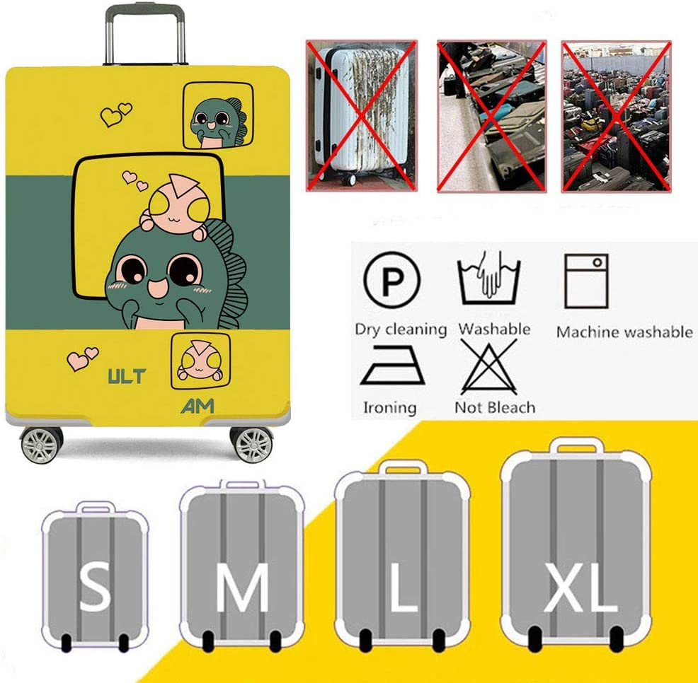 Travel Elastic Spandex Suitcase Protector Fits 18 to 32 Inch Luggage,A,M HBWZ Luggage Cover Protective Washable Suitcase Cover