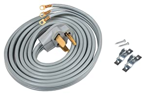 ACUPWR A103010 3-Wire Dryer Power Cord 10' with Safe Power Coating Technology, Comes with Volt Connect Hardwire Kit