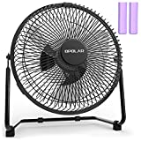 OPOLAR 9 inch USB Rechargeable Desk Fan with 6700mAh Capacity, Long Working Time, Good Airflow,Whisper Quiet, Two Settings, Personal Cooling Fan for Home & Office & Hurricane & Camping